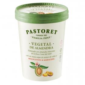 Preparado de almendra sabor melocotón y maracuyá Pastores sin gluten y sin lactosa 500 g.