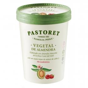 Preparado de almendra sabor frambuesa Pastores sin gluten y sin lactosa 500 g.