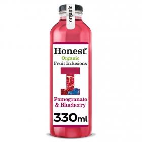 Refresco de té ecológico Honest sabor granada y arándano botella 33 cl.