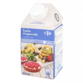 Leche evaporada parcialmente desnatada Carrefour 500 ml.