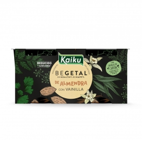 Preparado de almendra sabor vainilla Begetal Kaiku sin lactosa pack de 2 unidades de 115 g.