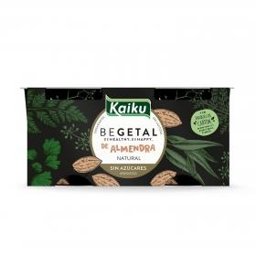 Preparado de almendra natural sin azúcar añadido Begetal Kaiku sin lactosa pack de 2 unidades de 115 g.