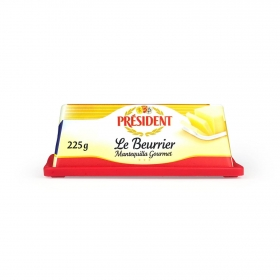Mantequilla gourmet Le Beurrier Président 225 g.