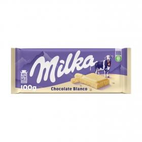 Chocolate blanco Milka 100 g.