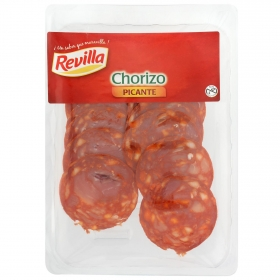 Chorizo extra picante loncheado Revilla envase 100 g