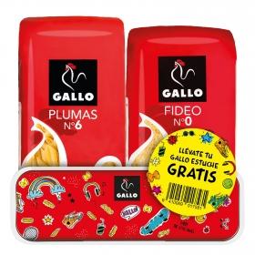 Macarrones nº6 + Fideos nº0 Gallo 500 g.