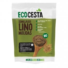Semillas de lino molidas sin azúcar añadido ecológicas Ecocesta sin gluten 200 g.
