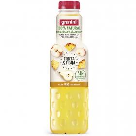Zumo de pera, piña y manzana Granini sin azúcar añadido botella 750 ml.