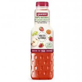 Zumo de manzana, fresa, uva y zanahoria Granini sin azúcar añadido botella 750 ml.