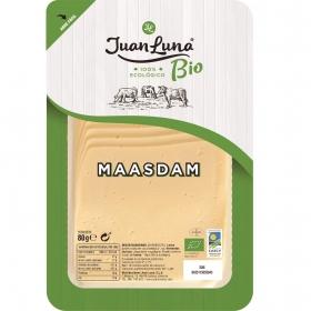 Queso maasdam en lonchas ecológico Juan Luna 80 g.