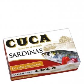 Sardinas en salsa picantona Cuca 80 g.