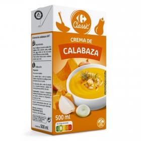 Crema de calabaza Carrefour sin gluten 500 ml.