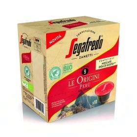 Café espresso orgien Perú en cápsulas ecológico Segafredo Zanetti compatible con Dolce Gusto 10 unidades de 7,5 g.
