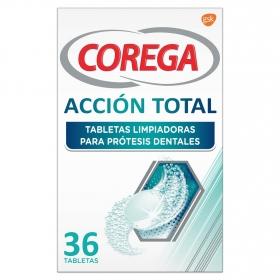 Tabletas limpiadoras para prótesis dentales Corega 36 ud.