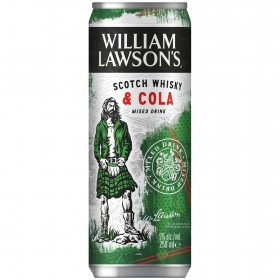 Combinado de whisky & cola William Lawson lata de 25 cl.