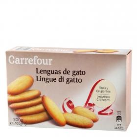 Galletas Lenguas de gato Carrefour 200 g.