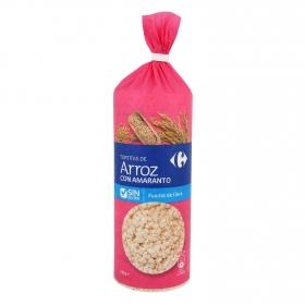 Tortitas de arroz con amaranto Carrefour sin gluten 130 g.