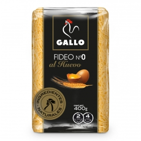 Fideo nº 0 al huevo Gallo 400 g.