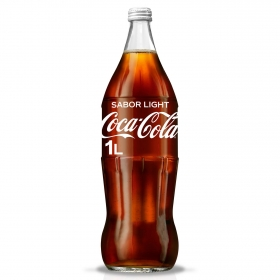 Refresco de cola Coca Cola light botella 1 l.
