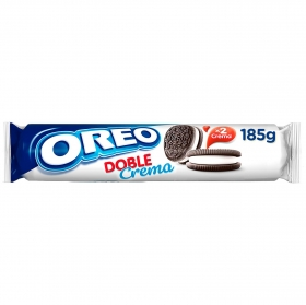 Galletas de chocolate rellenas de crema Double Creme Oreo 185 g.