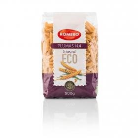 Macarrones integrales nº4 calidad superior ecológicos Romero 500 g.
