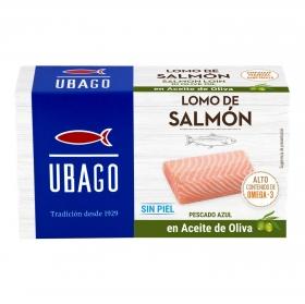Filete de salmón en aceite de oliva Ubago 80 g.