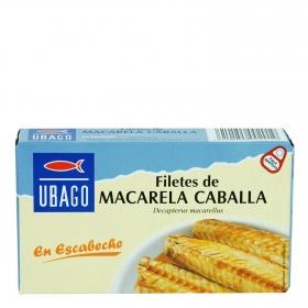 Filetes de caballa en escabeche Ubago 65 g.