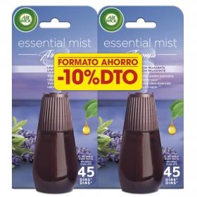 Ambientador aroma a lavada recambio Air Wick Essetial Mist 2 ud.