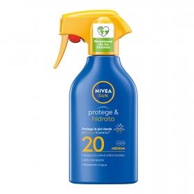 Spray Pistola Solar Hidratante FP 20 Nivea Sun 300 ml.