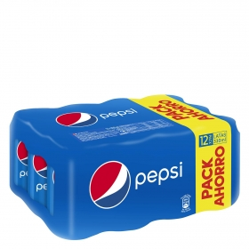 Refresco de cola Pepsi pack de 12 latas de 33 cl.