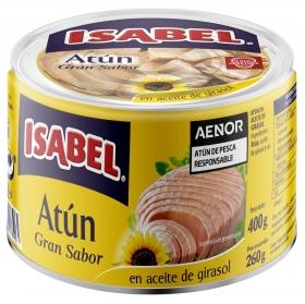 Atún en aceite de girasol Isabel 260 g.