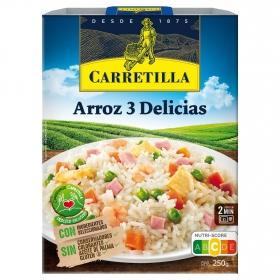 Arroz 3 delicias Carretilla 250 g.