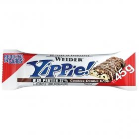 Barritas de proteínas sabor doble chocolate Yippie Weider 45 g.