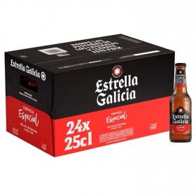 Cerveza Estrella Galicia especial pack de 24 botellas de 25 cl.