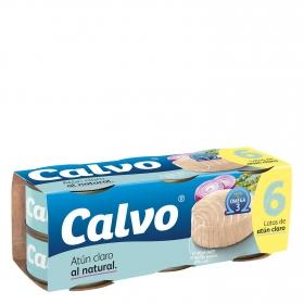 Atún claro al natural Calvo pack de 6 unidades de 56 g.