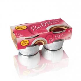 Flan 0% Reina sin gluten pack de 4 unidades de 100 g.