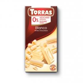 Chocolate blanco sin azúcar añadido Torras 75 g.