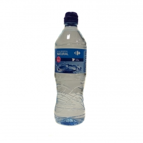 Agua mineral Carrefour natural tapón deportivo 75 cl.