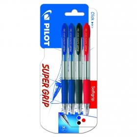 Pack 4 Bolígrafos Retractil Súper Grip