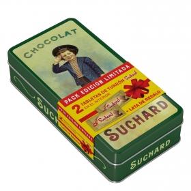 Turrón crujiente clásico Suchard lata de 2 unidades de 260 g.