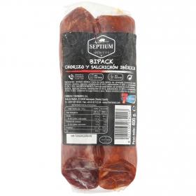 Chorizo y salchichón ibérico velita Septium sin gluten y sin lactosa 400 g