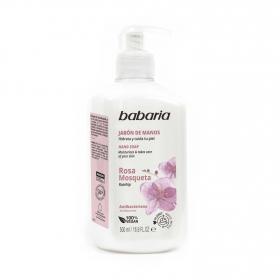Jabón de manos Rosa Mosqueta Babaria 500 ml.