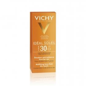Crema solar facial para piel grasa SPF 30 Idéal Soleil Vichy 50 ml.
