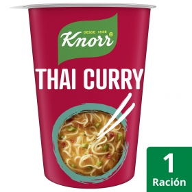 Noodles Asian Thai Curry Knorr sin glutamato 69 g.