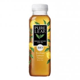 Refresco de té negro ecológico Pure Leaf sabor limón botella 330 ml.