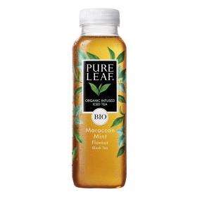 Refresco de té negro ecológico Pure Leaf sabor menta botella 330 ml.