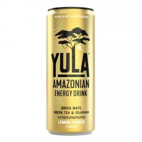 Bebida energética Yula sabor limón y jengibre 25 cl.