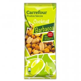Cocktail de frutos secos sabor barbacoa Carrefour 130 g.
