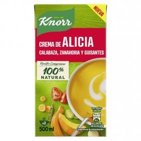 Crema de calabaza, zanahoria y guisantes Knorr 500 ml.