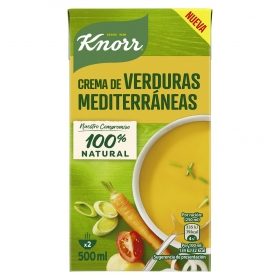 Crema de verduras mediterráneas Knorr 500 ml.
